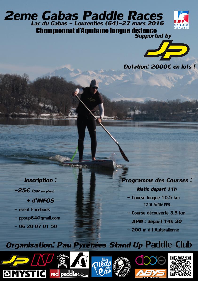 affiche gabas paddle race2016